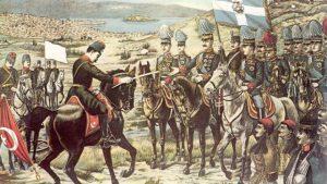 الأزمة البلقانية الثانية : دخلت دول العصبة البلقانية ( صريبا, اليونان بلغاريا ز الجبا الأسود) في حرب ضد الإمبراطورية العثمانية , انتهت بهزيمتها و تخليها عن أراضيها الأوربية لفائدة الدول المنتصرة.